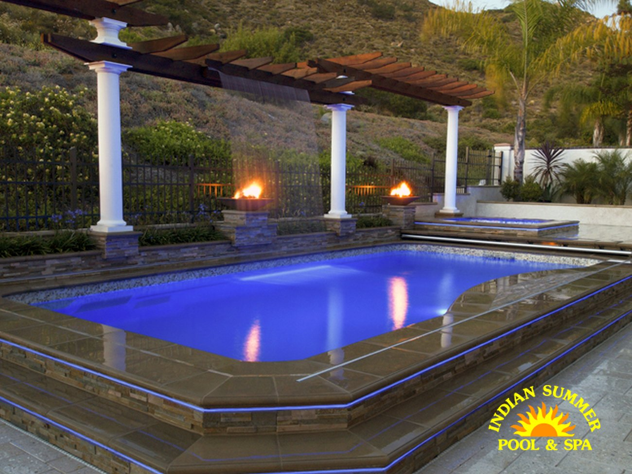 Swimming Pool Features |Pool Water Features | Indian Summer ...