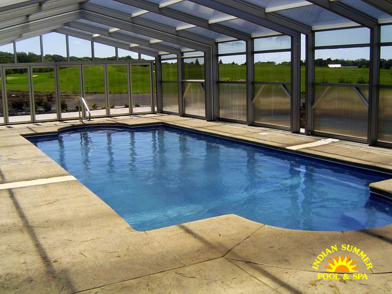 Fiberglass pools springfield mo indian summer pool and spa for Fiberglass inground swimming pools