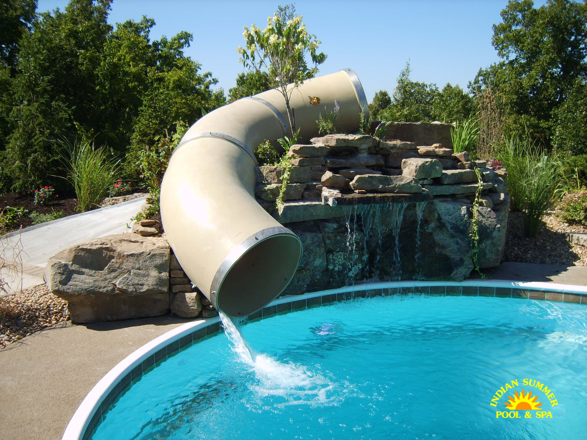 Spa In Swimming Pool: Hybrid Pools Springfield MO